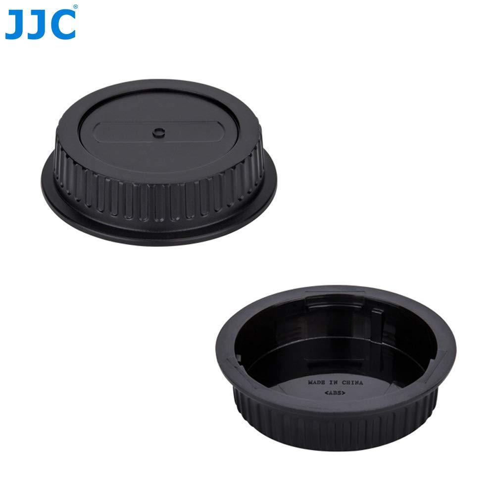 Rear Lens Cap Set for Micro Four Thirds System i.e Olympus Panasonic M4//3 Mirrorless Cameras and Lens 2 Sets JJC Body Cap