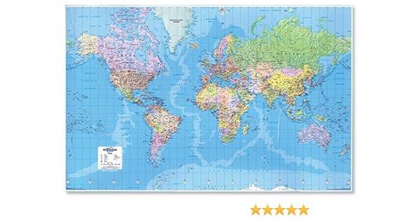 Nuevo. mapa del mundo 3D efecto gigante sin 315 millas a 2,54 cm ...
