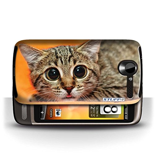 Etui / Coque pour HTC Desire G7 / Chatonne surprise conception / Collection de Animaux comiques