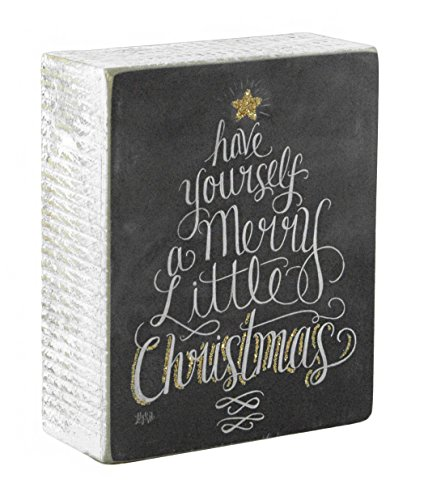 Have Yourself a Merry Little Christmas Wooden Box Sign]()