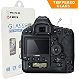Canon EOS 1D X Mark II Tempered Glass Screen Protector, Exuun Optical 9H Hardness 0.3mm Ultra-Thin DSLR Camera LCD Tempered Glass With Shoulder Screen Protector