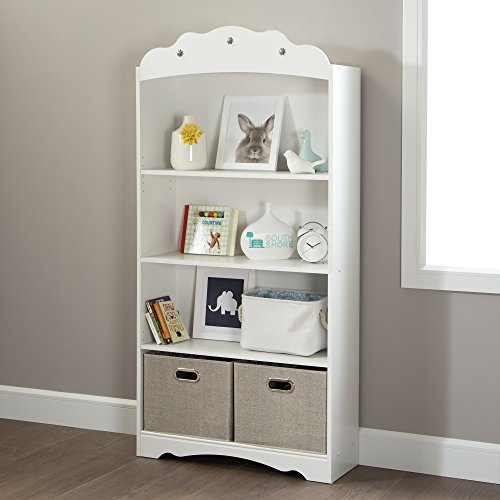 South Shore Tiara 4-Shelf Bookcase, Pure White by South Shore