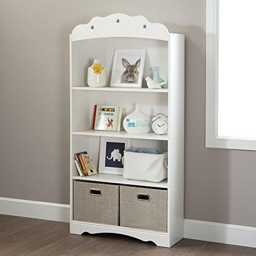 South Shore Tiara 4-Shelf Bookcase, Pure White by South Shore