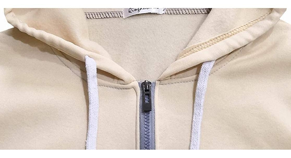 M/&S/&W Mens Fashion Color Stitching Front-Zip Hoodies Sweatshirt Jackets
