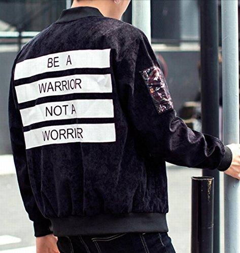 Generic Up Neck Baseball Black Thick Jacket Corduroy Zip Mens Casual Print rwAgBrxH