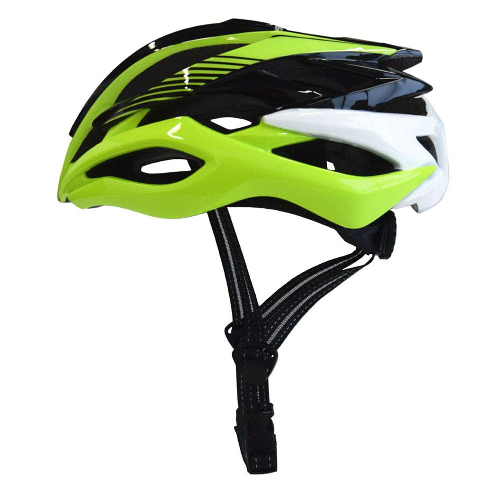 Erwachsene Bike Helmet LED Impact Resistant, Light Weight, Adjustable Fit EPS, PC Sports Road Cycling Recreational Cycling Cycling Bike,Grün