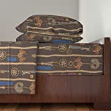 Roostery African 4pc Sheet Set Ananse's Web by Thecalvarium King Sheet Set made with