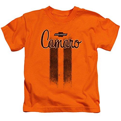 Price comparison product image Chevrolet Youth Camaro Stripes T-Shirt, Medium (5/6), Orange