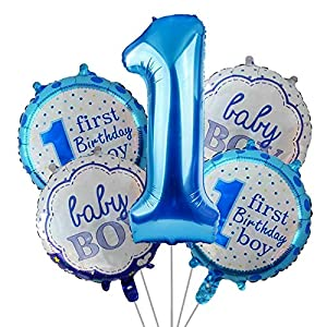 1st birthday Balloons decoration for baby boy