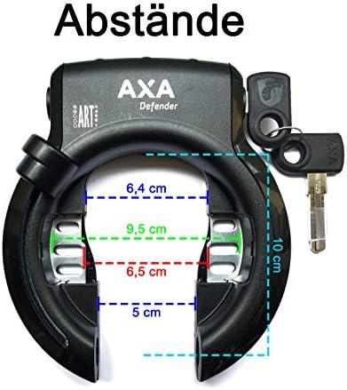 AXA Defender Reflex Fahrradschloss Rahmenschloss Matt Schwarz Limited Edition