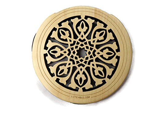 New Lute Hole Soundhole Cover Acoustic Electric Guitar Feedback Buster #01 Maple ()