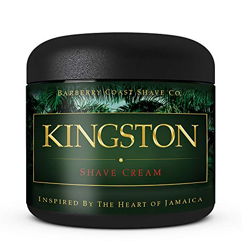 SALE - Kingston Shaving Cream for Men - Made with Shea Butter, White Tea & All Natural Ingredients - Full of Organic Soothers, Moisturizers & ()