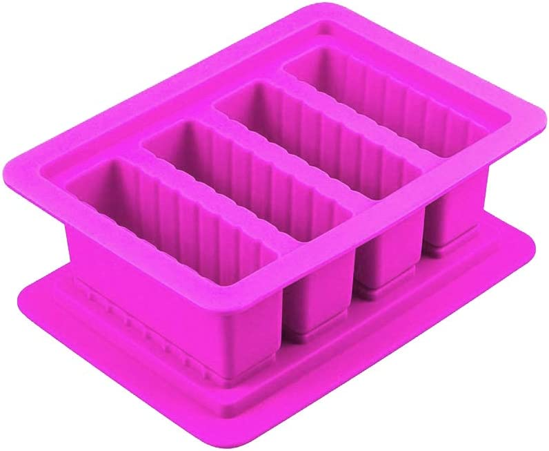 Veradant Butter Mold Tray with Lid Storage - The Silicone Butter Molds with 4 Large Storage Cavities for Butter, Brownies, Ice, Soap Bars, Energy Bars and Chocolates