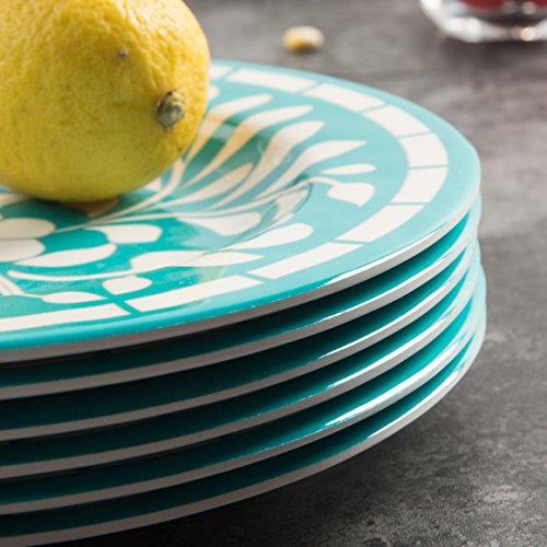 Dinnerware Set for 4 - Melamine 12 Piece Dinner Dishes Set for Camping Use, Lightweight, Dishwasher Safe, Green by Yinshine (Image #4)