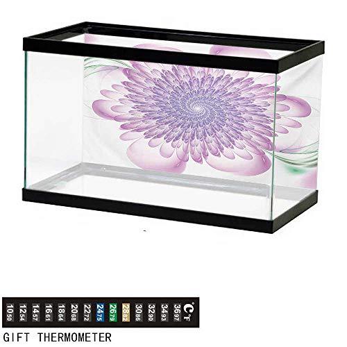 Hypnotic Violet - wwwhsl Aquarium Background,Spires,Digital Floral Harmonic Spirals with Flourish Hypnotic Vision Petals Dreamlike Print,Violet Fish Tank Backdrop 30