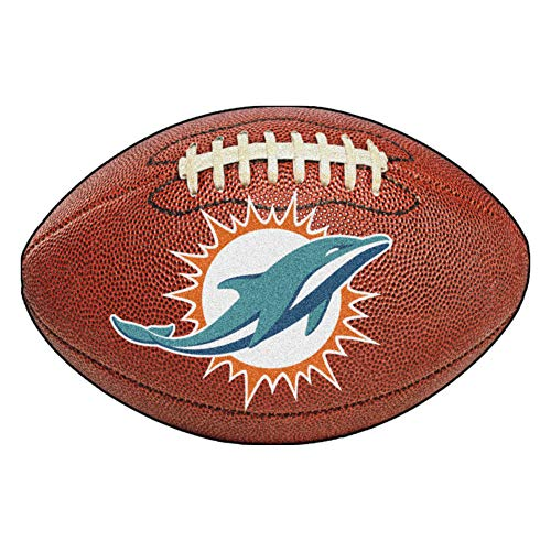 - FANMATS NFL Miami Dolphins Nylon Face Football Rug