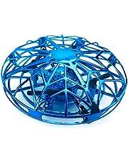 Decdeal UFO mini drone RC vliegende bal RC quadcopter infrarood inductie vliegende bal met 360° roterend en LED-verlichting incl. afstandsbediening