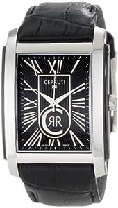 Cerruti 1881 Firenze CRB011E222B - Reloj de caballero de cuarzo, correa de acero inoxidable color negro