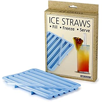 Barbuzzo Ice Straws - Create Frozen Straws at Home - Keep Your Drink Extra Cool - Reusable Tray and Mold for Ice Straws - Fill, Freeze, Serve