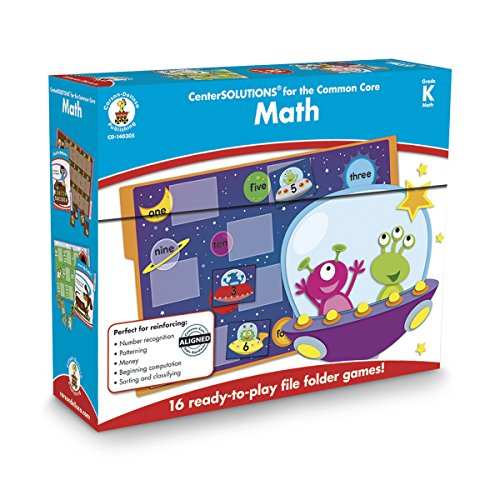 Carson Dellosa Center Solutions Math File Folder Games, Kindergarten (Solution Center)