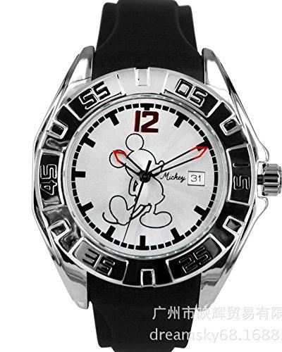 Disney Mickey Mouse relojes para hombres y mujeres estudiantes elegante reloj de pulsera para hombre reloj