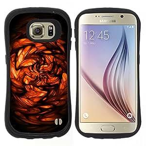 """Hypernova Slim Fit Dual Barniz Protector Caso Case Funda Para Samsung Galaxy S6 [Abstracto rojo""""]"""