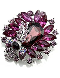 Women's Banquet Party Broach Rhinestone Crystal Butterfly Wedding Brooch Pin