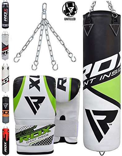 RDX Heavy Boxing 4FT 5FT Punch Bag UNFILLED MMA Punching Bags Training Gloves KickBoxing Bag Boxing Punch