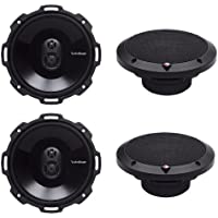 4) New Rockford Fosgate P1675 6.75 240W 3 Way Car Coaxial Audio Speakers Stereo