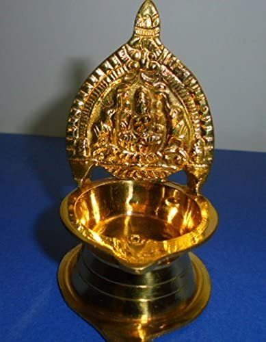 Artcollectibles India 4 Vintage Brass Lamps Oil Diya Kuber Hindu Puja Home Decor Gifts Ethnic Lighting