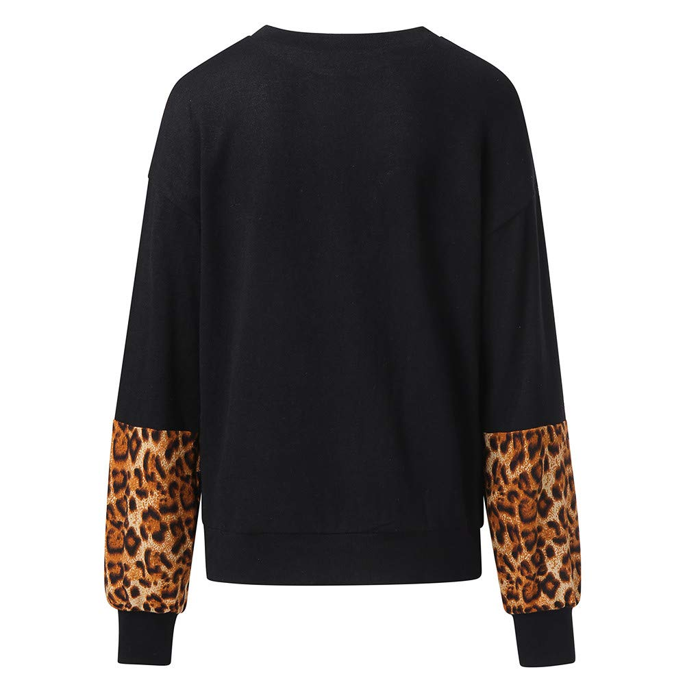 NRUTUP Womens Leopard Print Long Sleeve Pullover Blouse Shirts Sweatshirt Top at Amazon Womens Clothing store: