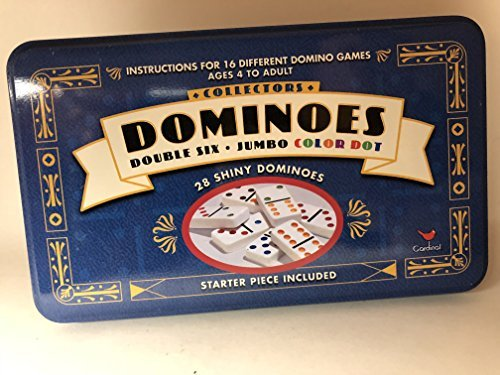 Dominoes In Tin-Double Pl Size Ea Plstc Dbld Dominoes In Tin ()