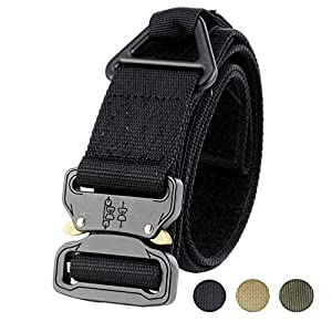 "Faylife Tactical Belts, 1.75""Rigger's Belt Military Style Adjustable Valcro Nylon Belts with Heavy Duty Quick Release Buckle"
