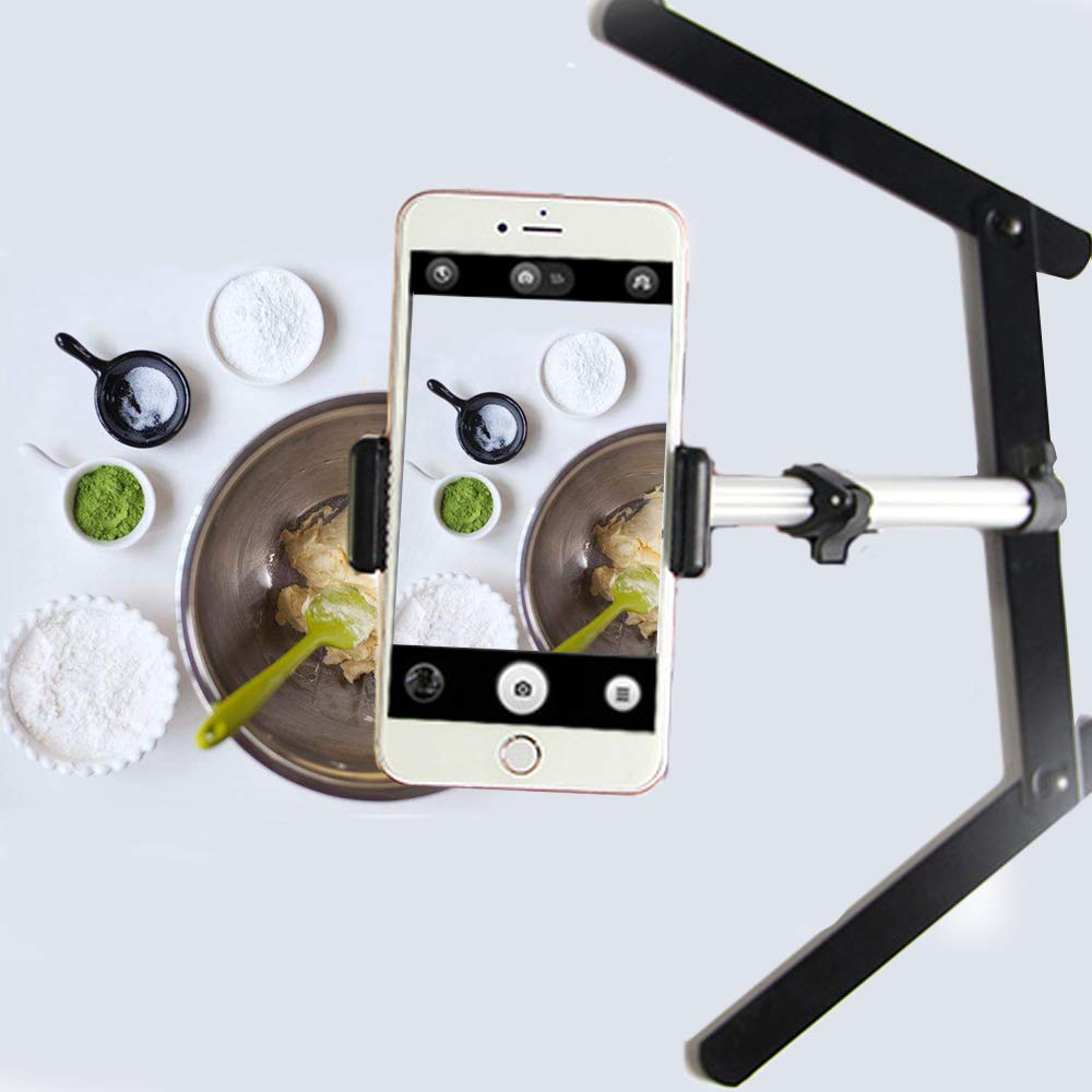 Evanto Camera Table Top Monopod Stand Tripod Support Rig with Overhead Phone Mount for YouTube Tutorials, Cake and Cookies Decorating by Evanto