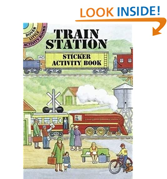 Train Station Sticker Activity Book Dover Little Books Stickers