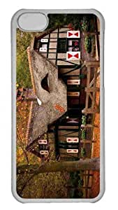 Customized iphone 5C PC white Case - Vacation House 2 Personalized Cover
