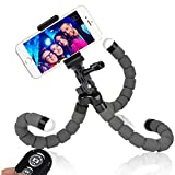 Phone Tripod - WEMFG Flexible Tripod for Phone with Wireless Remote for Iphone& Android Phone - Camera - Sports Camera and Gopro