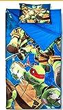 Sleeping Bags for Boys - Ninja Turtle Slumber Bag (45 Degrees Fahrenheit) and Pillow - 2 Piece Set