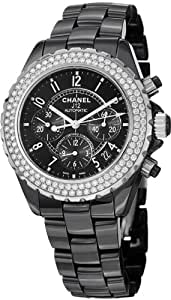 Chanel J12 Black Ceramic Automatic Chronograph Diamond Watch H1009