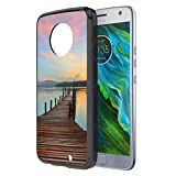 Moto X4 Case, Capsule-Case Hybrid Slim Hard Back Shield Case with Fused TPU Edge Bumper (Black) for Motorola Moto X4 (Moto X 4th Generation) - (Walking Path)