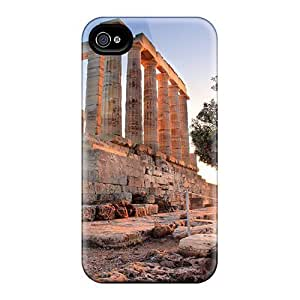 Fashion Tpu Case For Iphone 4/4s- Templo Poseidon Defender Case Cover