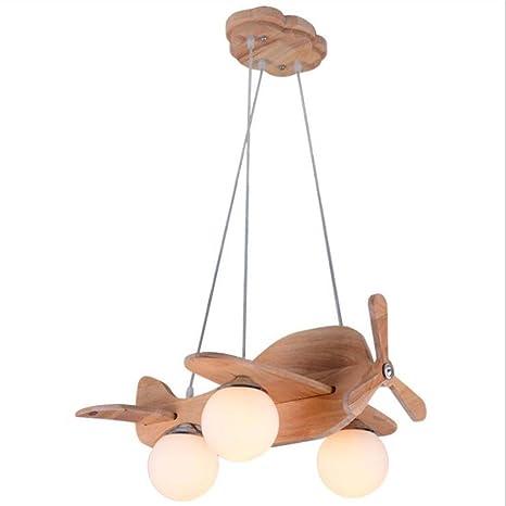 Lámpara colgante de cómic, lámpara de techo de madera modelo ...