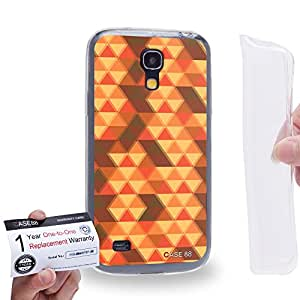 Case88 [Samsung Galaxy S4 Mini] Gel TPU Carcasa/Funda & Tarjeta de garantía - Art Fashion Fulvous Triangle Geometric Combination Art2534