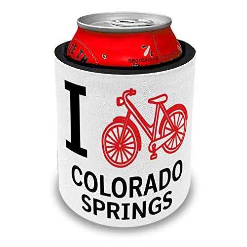 NEONBLOND I Love Cycling City Colorado Springs Slap Can Cooler Insulator Sleeve ()
