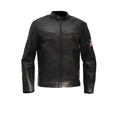 Fashion Tribe Swordfish Hugh Jackman Black Leather Jacket (XS)