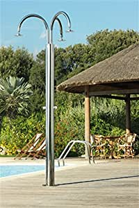 ducha al aire libre de acero inoxidable para en el jardín Idra C140/3