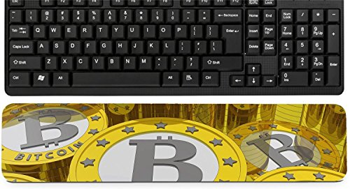 Liili Keyboard Wrist Rest Pad Long Extended Arm Supported Mousepad bitcoins background Bitcoin is a new virtual money for internet trading and business IMAGE ID 19084175