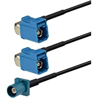 Superbat Fakra Splitter, Fakra Cable Male to Female RG174 Coaxial Cable Y Type Splitter for Car Stereo GPS Antenna…