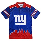 FOCO NFL Mens Polyester Short Sleeve Thematic Polo Shirt
