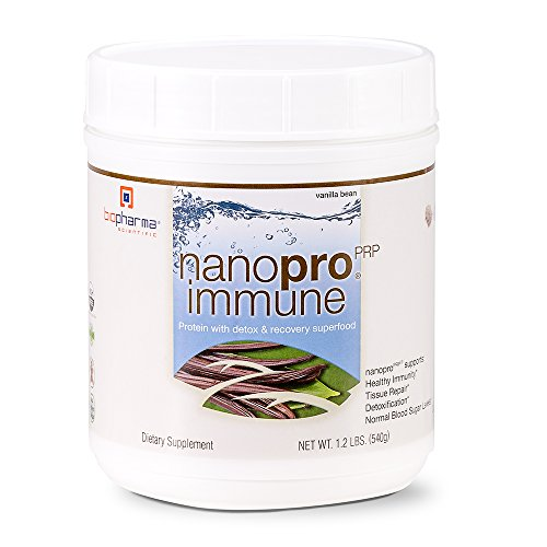 Biopharma Scientific NanoPro Immune Undenatured Whey Protein Powder | Vanilla Bean Flavor | 30 Servings | Colostrum, Iron, Calcium, Grass Fed Cows, Proline Rich Polypeptides For Sale